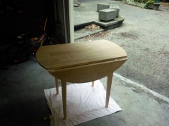 Take an old table you had in your first apartment. Sand it down to remove the nasty gloss finish.