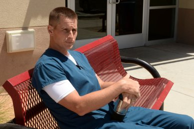 "THE NIGHT SHIFT -- ""All In"" Episode 308 -- Pictured: Brendan Fehr as Dr. Drew Alister -- (Photo by: Ursula Coyote/NBC)"